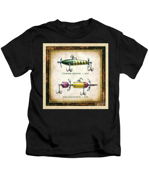Antique Lure Panel One Kids T-Shirt