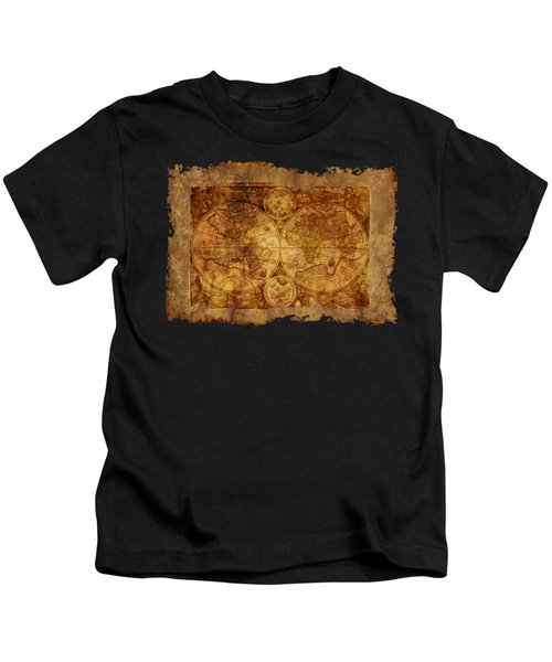 Antique Map Of The World Kids T-Shirt