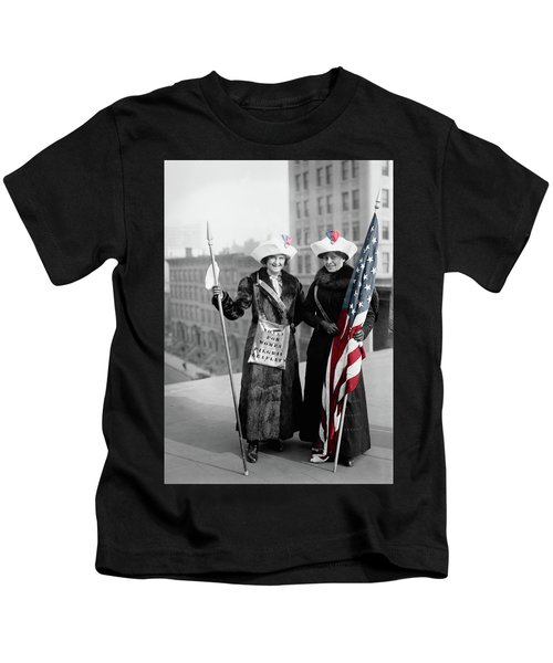 Antique Photo Of Two Women Kids T-Shirt