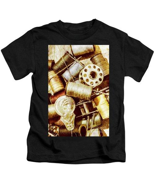 Antique Sewing Artwork Kids T-Shirt