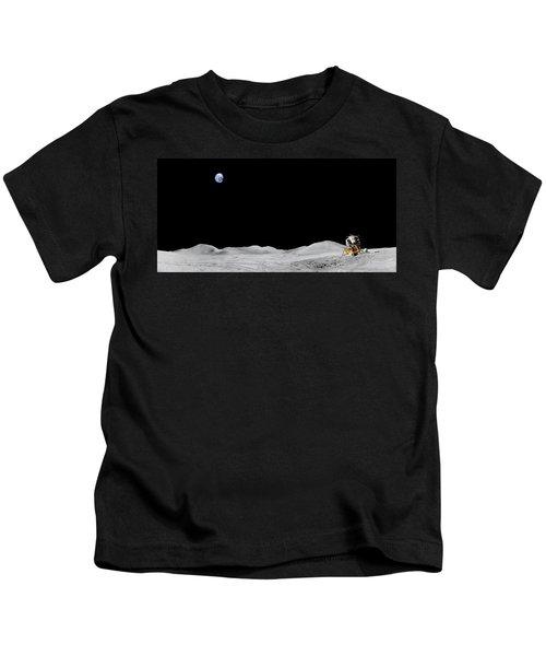 Apollo 15 Landing Site Panorama Kids T-Shirt