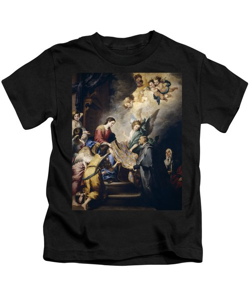 Apparition Of The Virgin To Saint Ildefonso  Kids T-Shirt