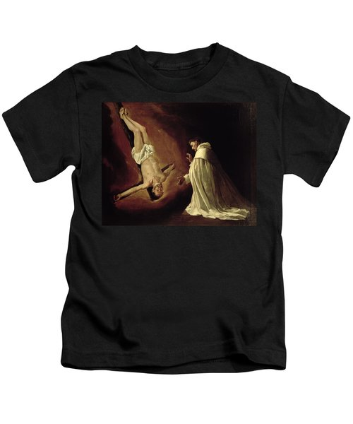 Appearance Of Saint Peter To Saint Peter Nolasco Kids T-Shirt