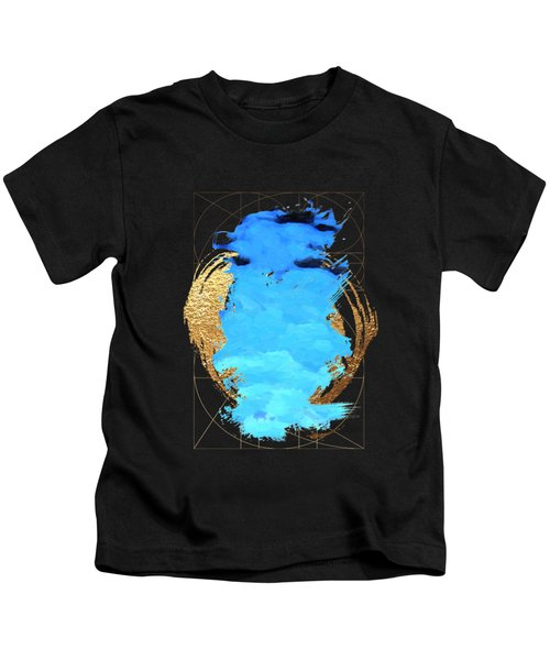 Aqua Gold No. 1 Kids T-Shirt by Serge Averbukh