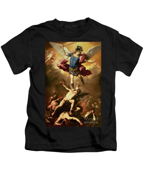 Archangel Michael Overthrows The Rebel Angel Kids T-Shirt