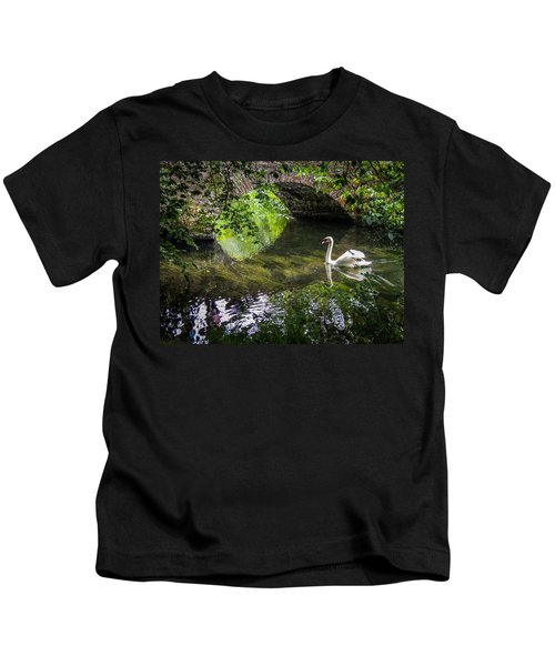 Arched Bridge And Swan At Doneraile Park Kids T-Shirt
