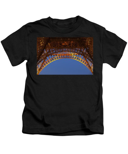 Arches Of The Eiffel Tower Kids T-Shirt