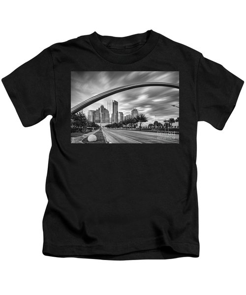 Architectural Photograph Of Post Oak Boulevard At Uptown Houston - Texas Kids T-Shirt