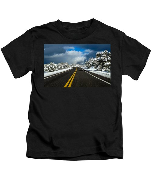 Arizona Snow Road Kids T-Shirt