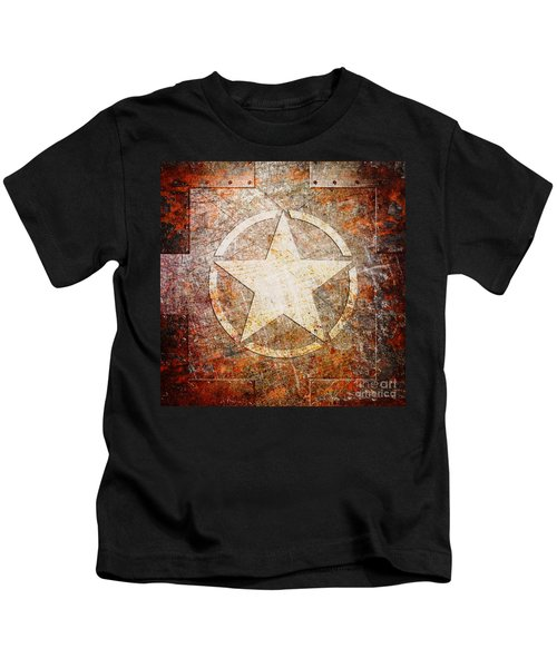 Army Star On Rust Kids T-Shirt
