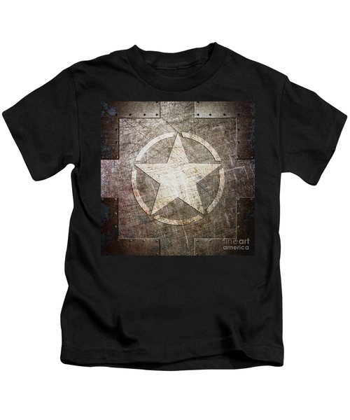 Army Star On Steel Kids T-Shirt