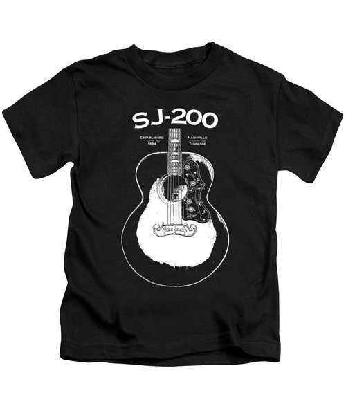 Gibson Sj-200 1948 Kids T-Shirt by Mark Rogan