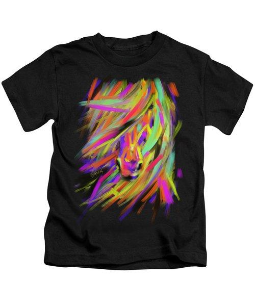Horse Rainbow Hair Kids T-Shirt
