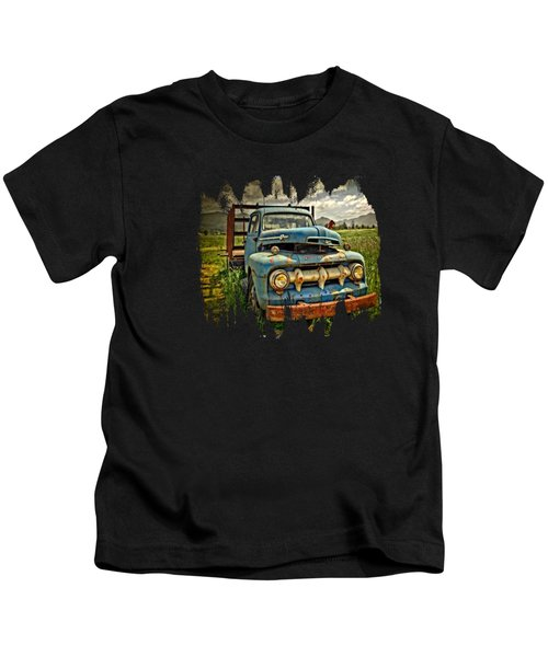 The Blue Classic Ford Truck Kids T-Shirt