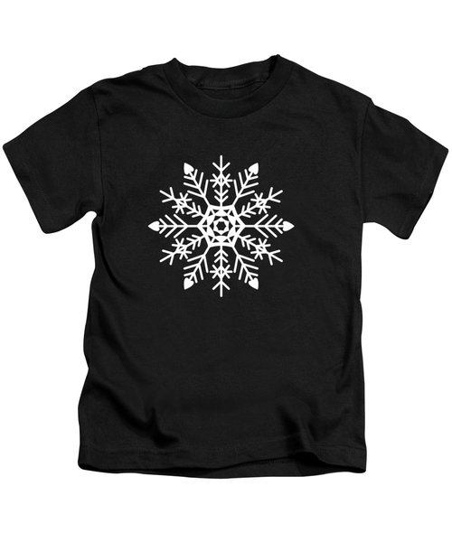 Snowflakes Black And White Kids T-Shirt