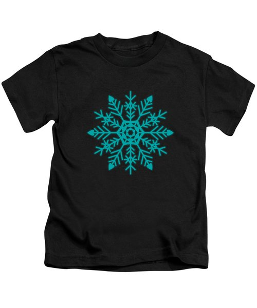 Snowflakes Green And White Kids T-Shirt