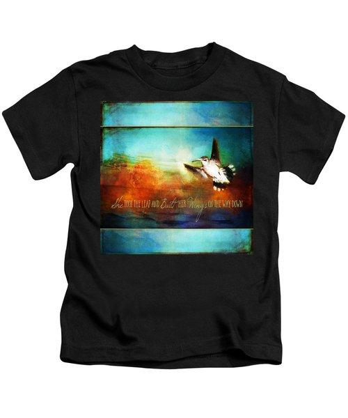 She Built Her Wings Kids T-Shirt