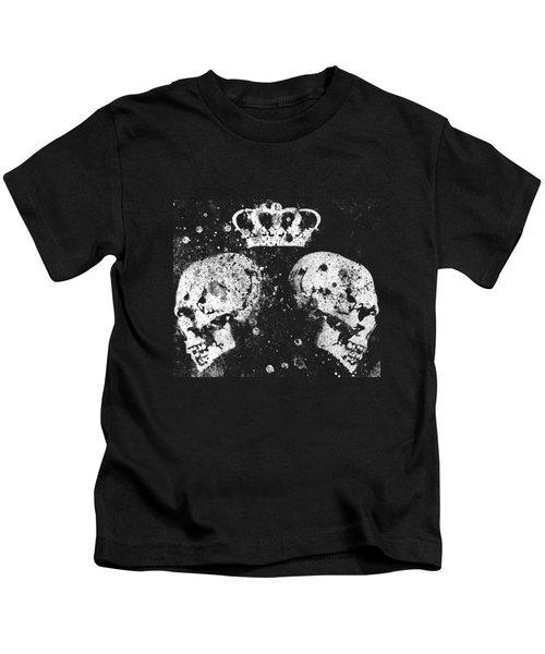 Queendom - Spray Paint Graffiti Art, Crown With Skulls Kids T-Shirt