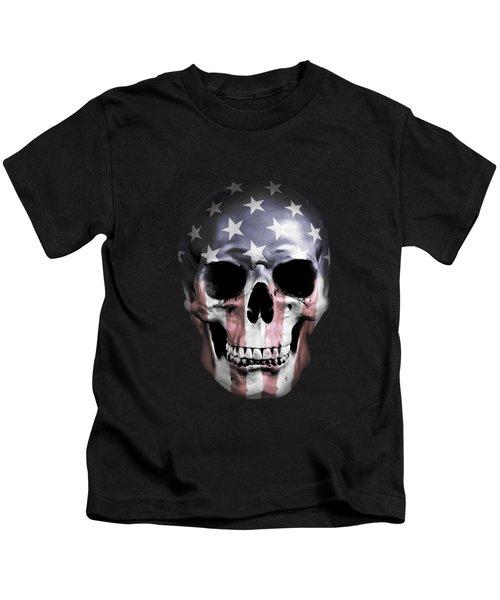 American Skull Kids T-Shirt by Nicklas Gustafsson