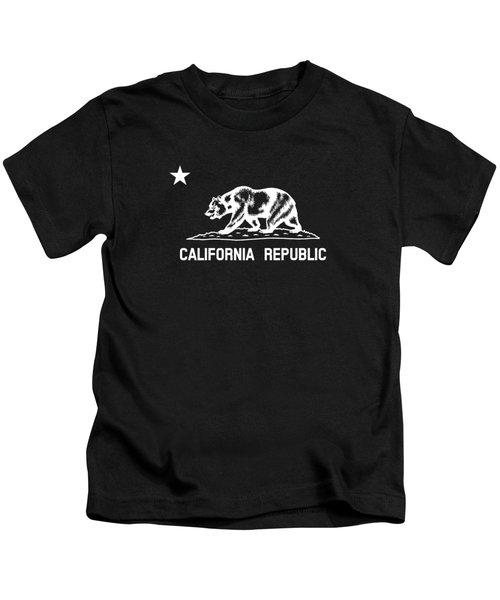 The Bear Flag - Black And White Kids T-Shirt