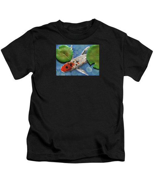 Hidden Koi Kids T-Shirt by Rhi Johnson