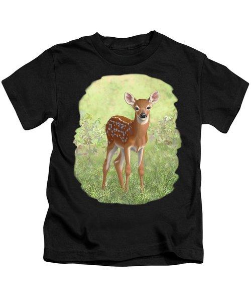 Cute Whitetail Deer Fawn Kids T-Shirt