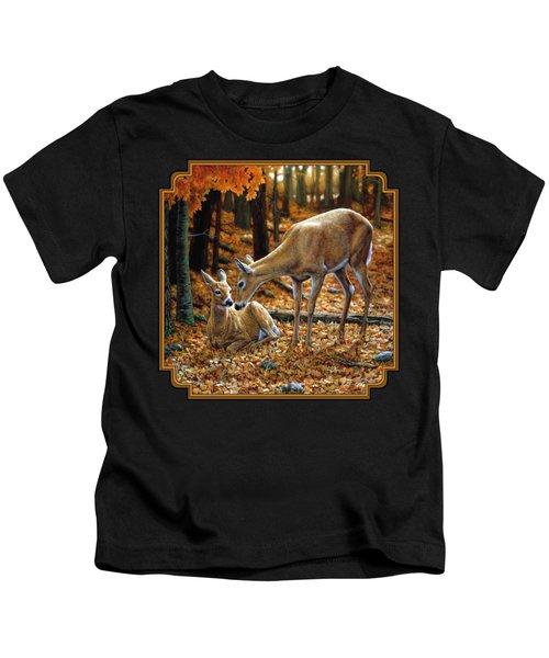 Whitetail Deer - Autumn Innocence 2 Kids T-Shirt