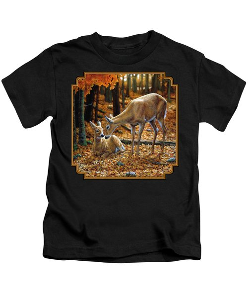 Whitetail Deer - Autumn Innocence 2 Kids T-Shirt