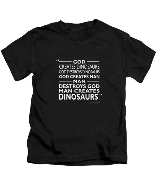 God Creates Dinosaurs Kids T-Shirt