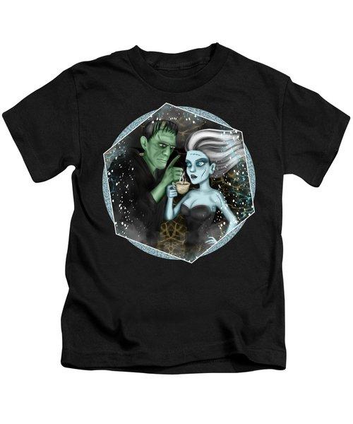 Frankenstien Fantasy Art Kids T-Shirt