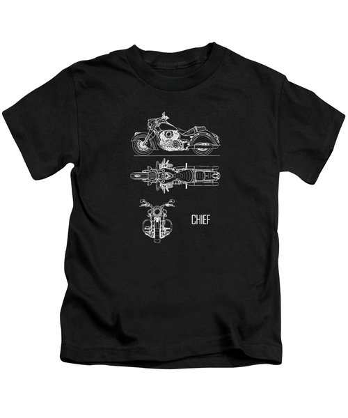 The Chief Motorcycle Blueprint Kids T-Shirt