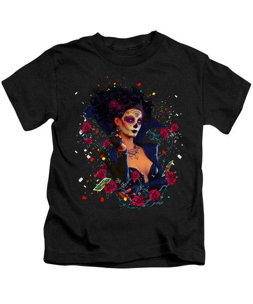 Dead Lucky Sugar Doll Kids T-Shirt