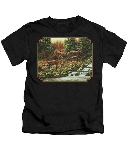 Whitetail Deer - Follow Me Kids T-Shirt