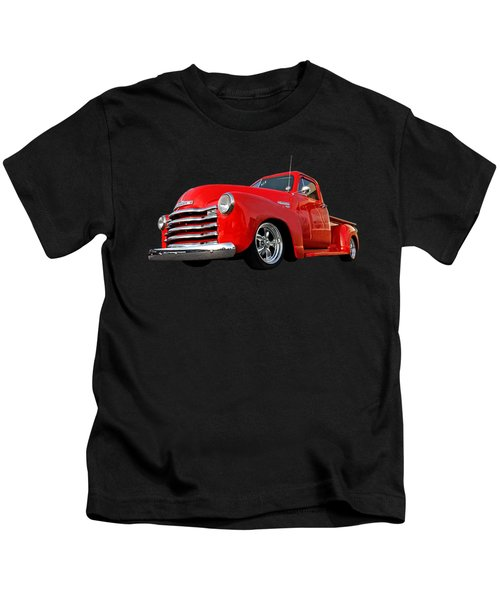 1952 Chevrolet Truck At The Diner Kids T-Shirt by Gill Billington
