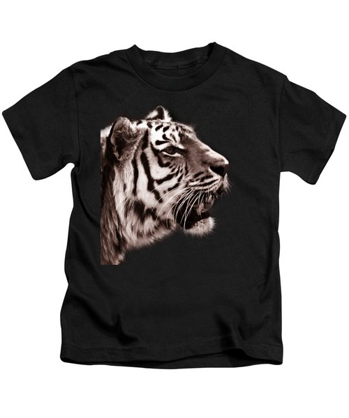 Siberian Tiger Profile Kids T-Shirt by Crystal Wightman