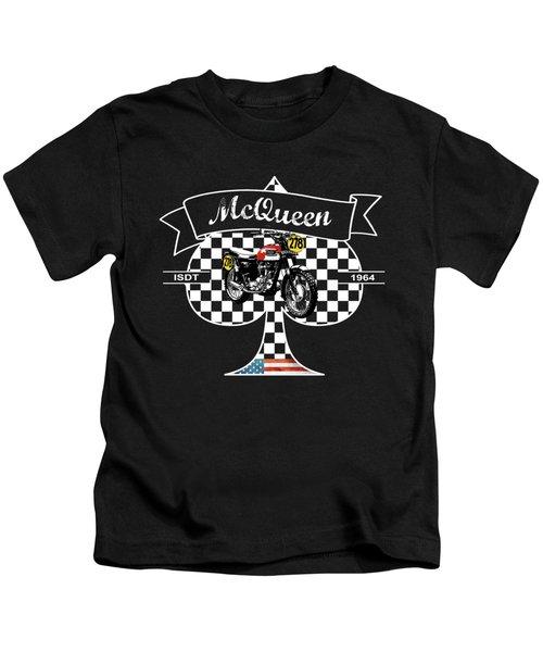 Steve Mcqueen Isdt 1964 Kids T-Shirt