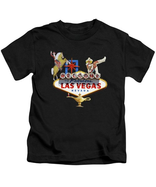 Las Vegas Symbolic Sign Kids T-Shirt