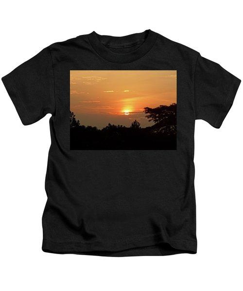 As The Sun Sets ... Orange Kids T-Shirt by Exploramum Exploramum