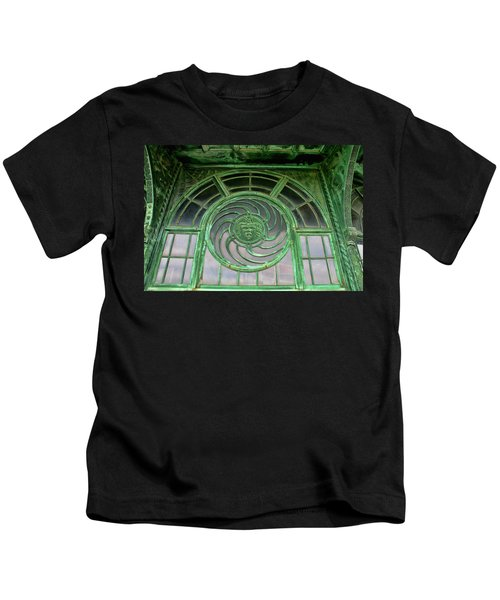 Asbury Carousel Building Details Kids T-Shirt