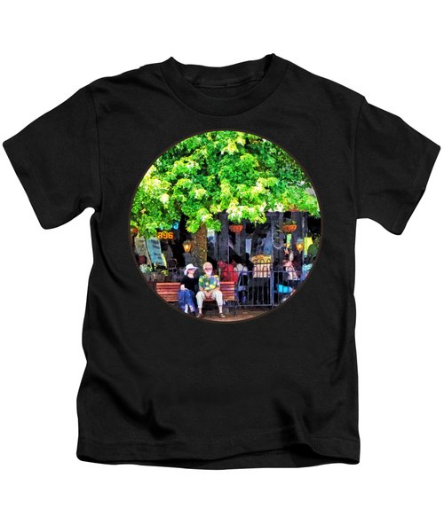 Asheville Nc Outdoor Cafe Kids T-Shirt