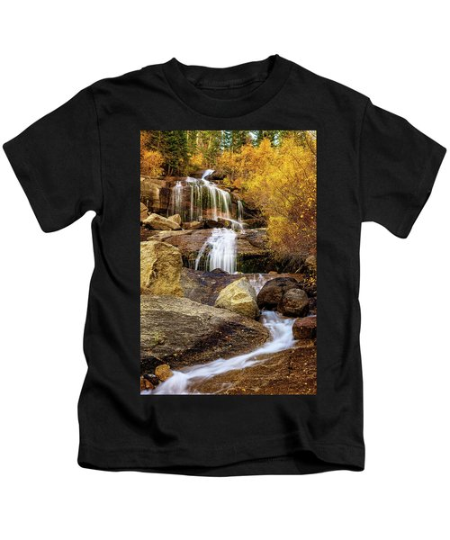 Aspen-lined Waterfalls Kids T-Shirt