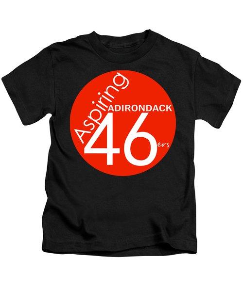 Aspiring Adirondack 46ers Trail Marker Kids T-Shirt by Michael French