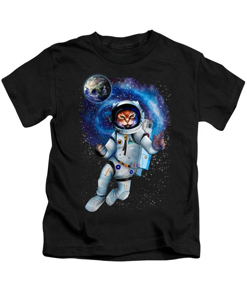 Astronaut Cat Kids T-Shirt