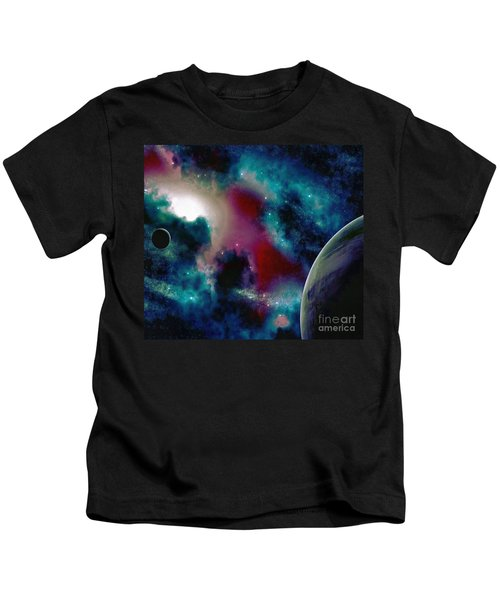 Astronomy Painting Glammed Out Teal Kids T-Shirt