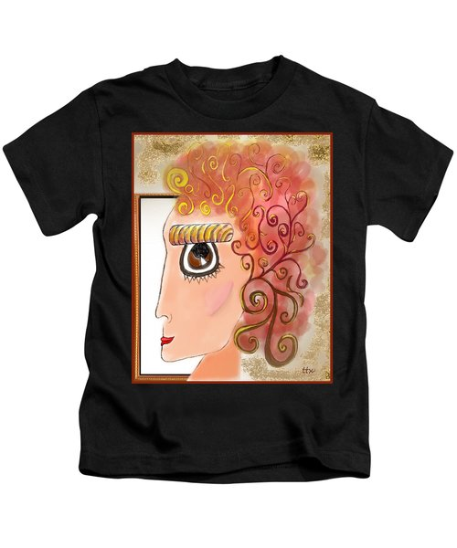 Athena In The Mirror Kids T-Shirt