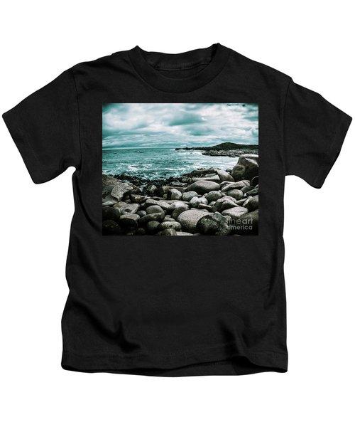 Atmosphere In A Looming Sea Storm Kids T-Shirt