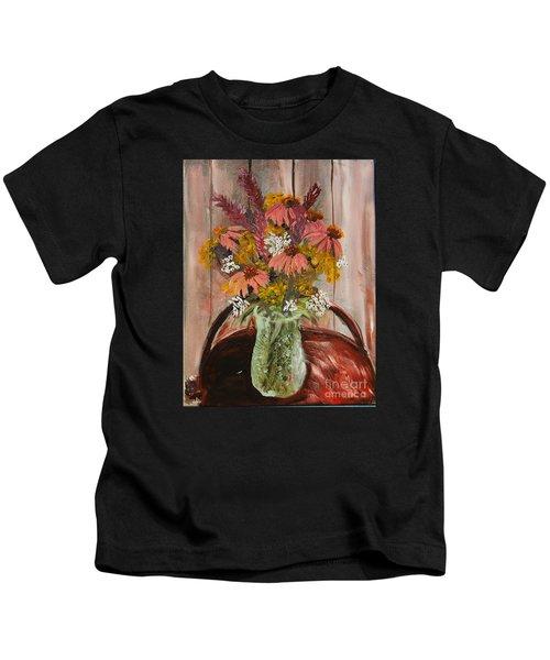 August Flowers Kids T-Shirt