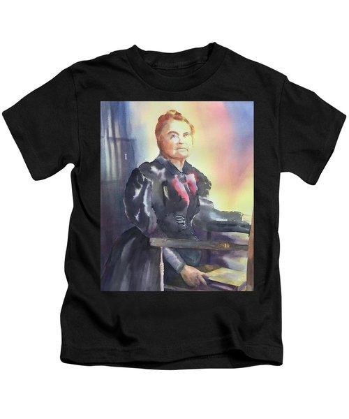 Aunt Carry A. Nation, Circa 1900 Kids T-Shirt