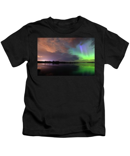 Aurora And Storm Clouds Kids T-Shirt