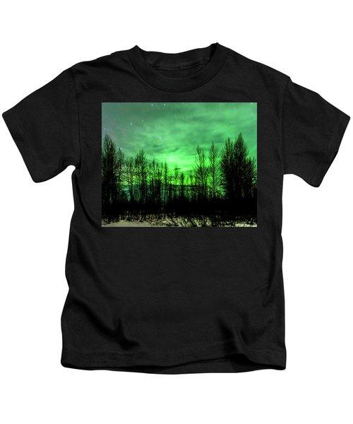 Aurora In The Clouds Kids T-Shirt